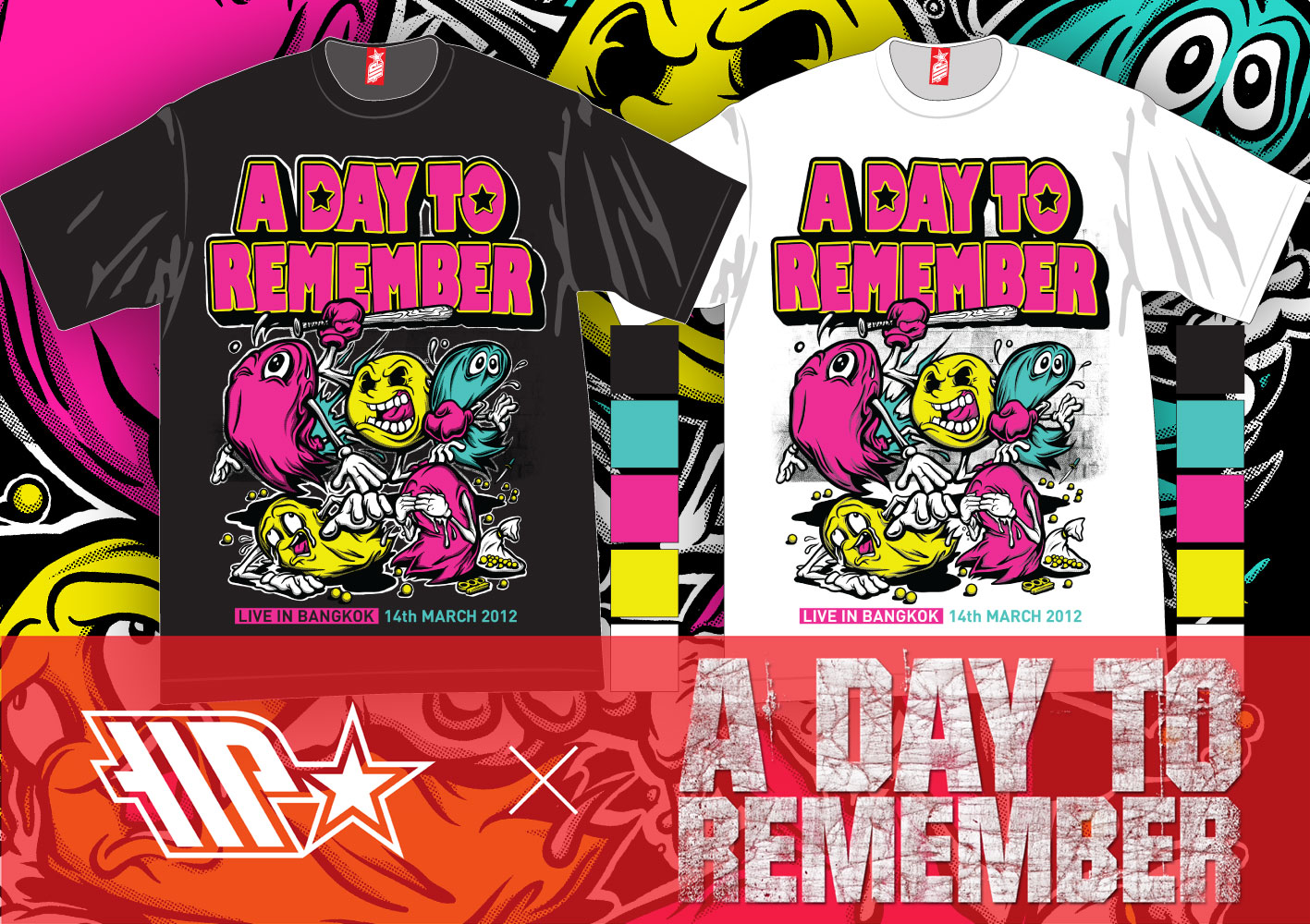 A.M.P. X A DAY TO REMEMBER -PACMAN- T-SHIRT | AMPBKK A Day To Remember 2012